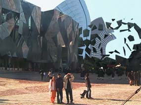 Lachlan Tetlow-Stuart at Federation Square